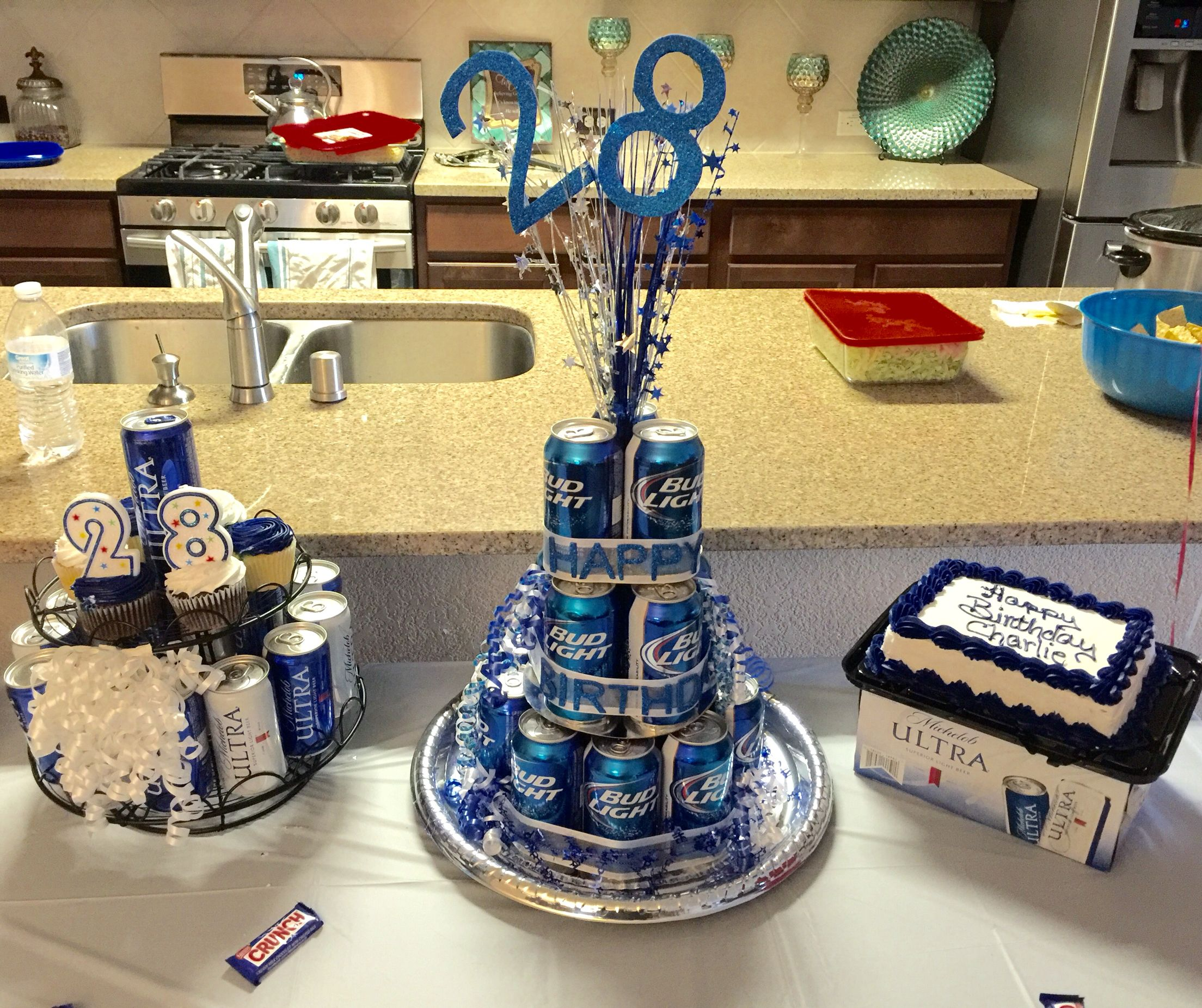 Beer Birthday Cakes For My Brother 28th Birthday Birthday Beer Cake Bud Light Birthday Cake 28th Birthday