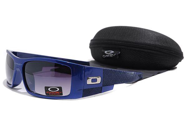 Dealextreme Oakley Gascan Sunglasses Blue Frame Black Lens