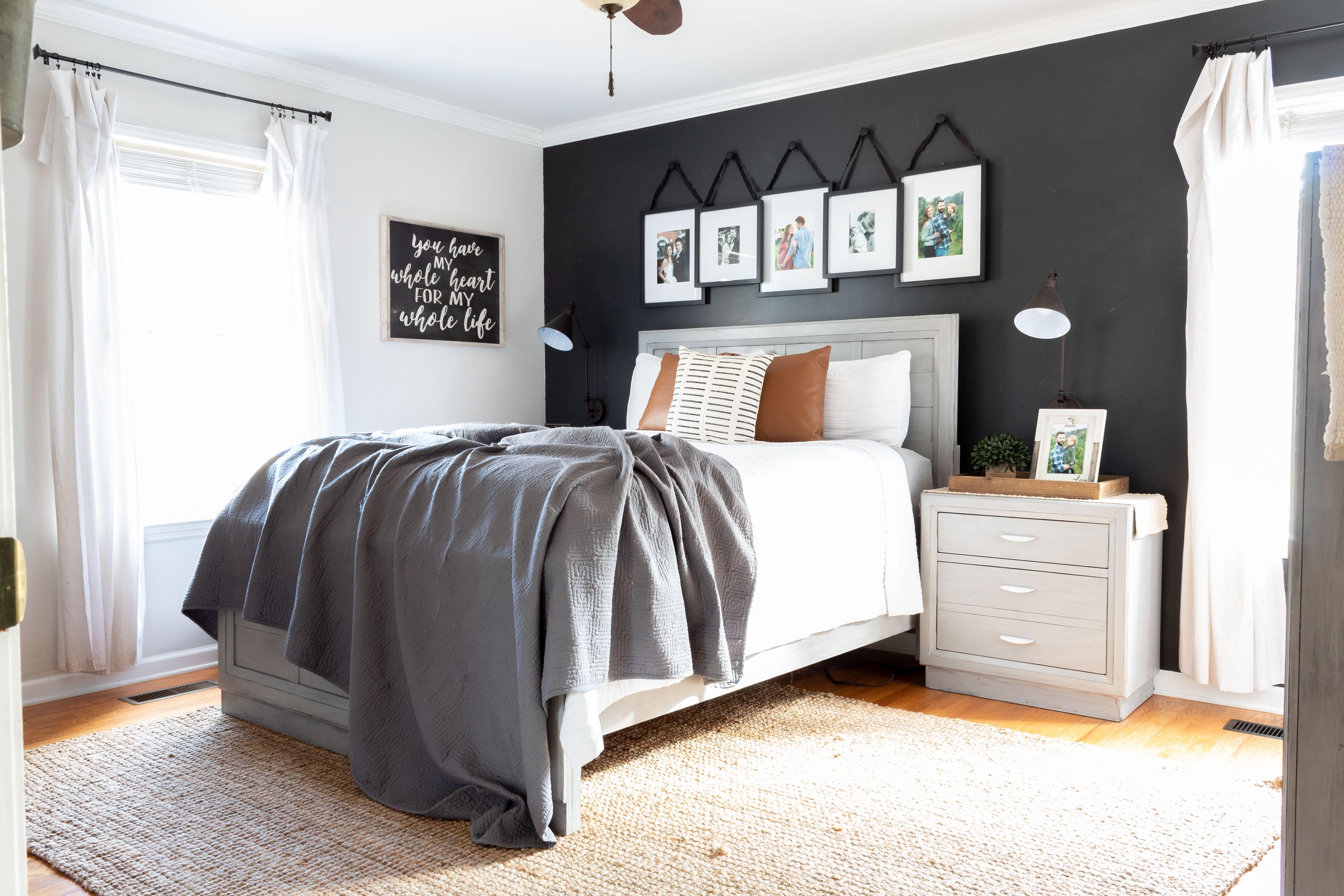 Master Bedroom Black Accent Wall Cityloftsherwinwilliams Black Accent Wall Iron Accent Bedro In 2020 Black Accent Walls Master Bedroom Accents Accent Wall Bedroom