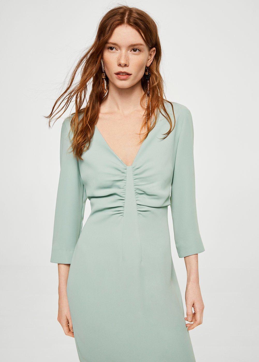 Vestido detalle fruncido - Vestidos de Mujer  9dd8d05cab78