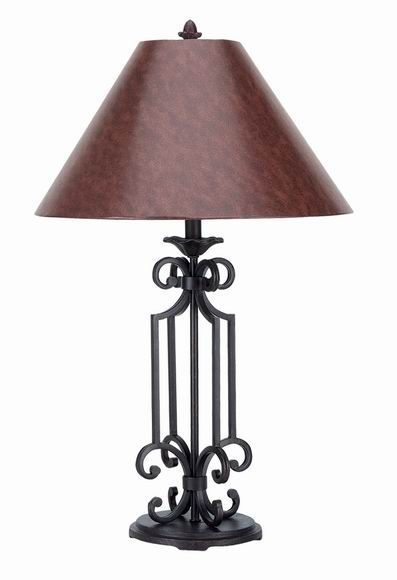 Lamps Iron Lamps 569 Tl Wrought Iron Table Lamp Free Shipping