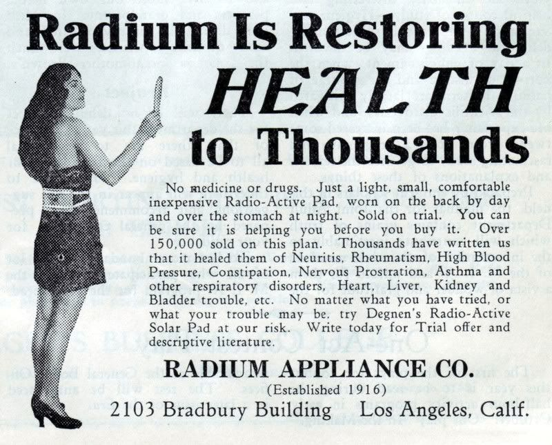 Image result for radium ad