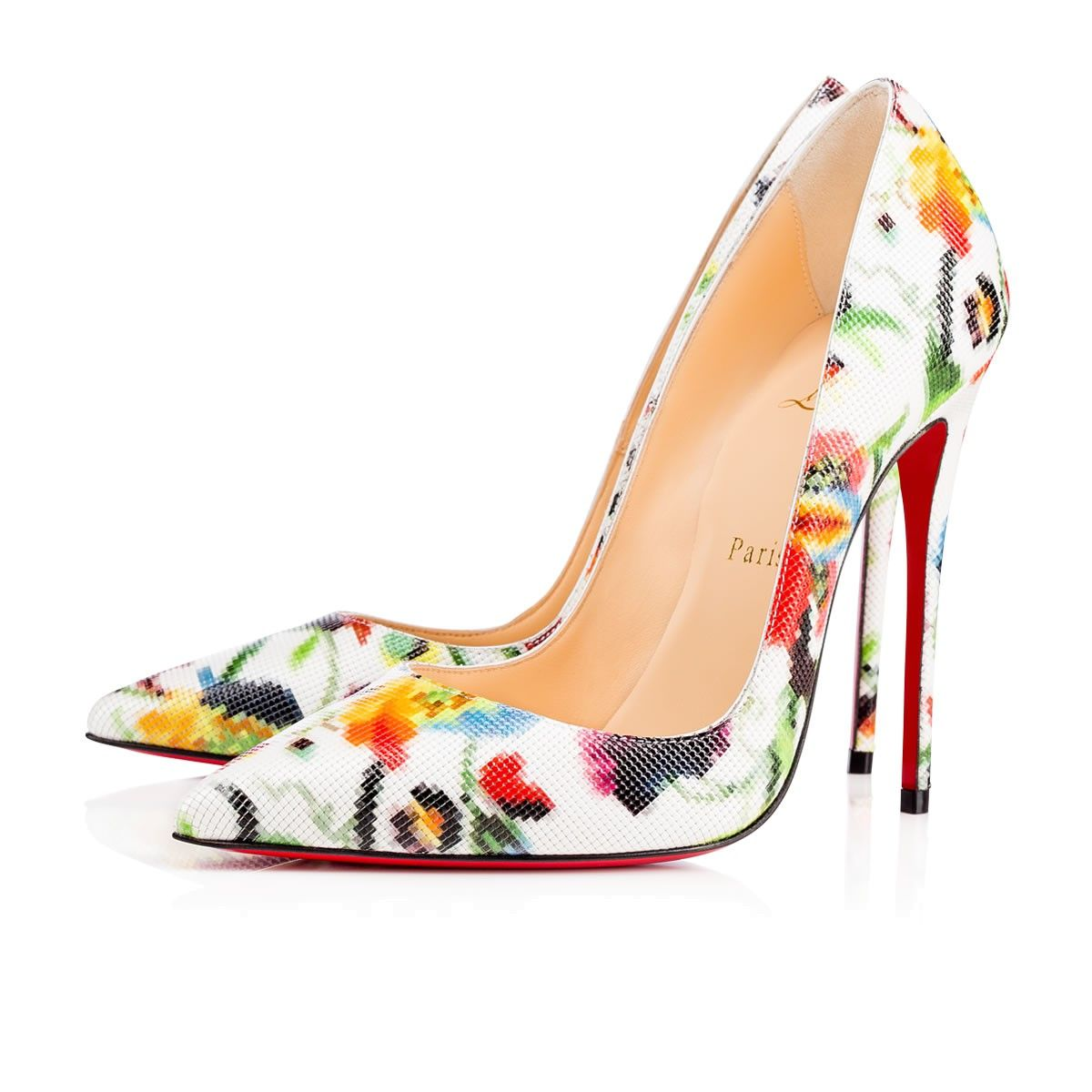 reputable site 74cb7 47f6d CHRISTIAN LOUBOUTIN So Kate 120Mm Multicolor Patent Mosaique ...