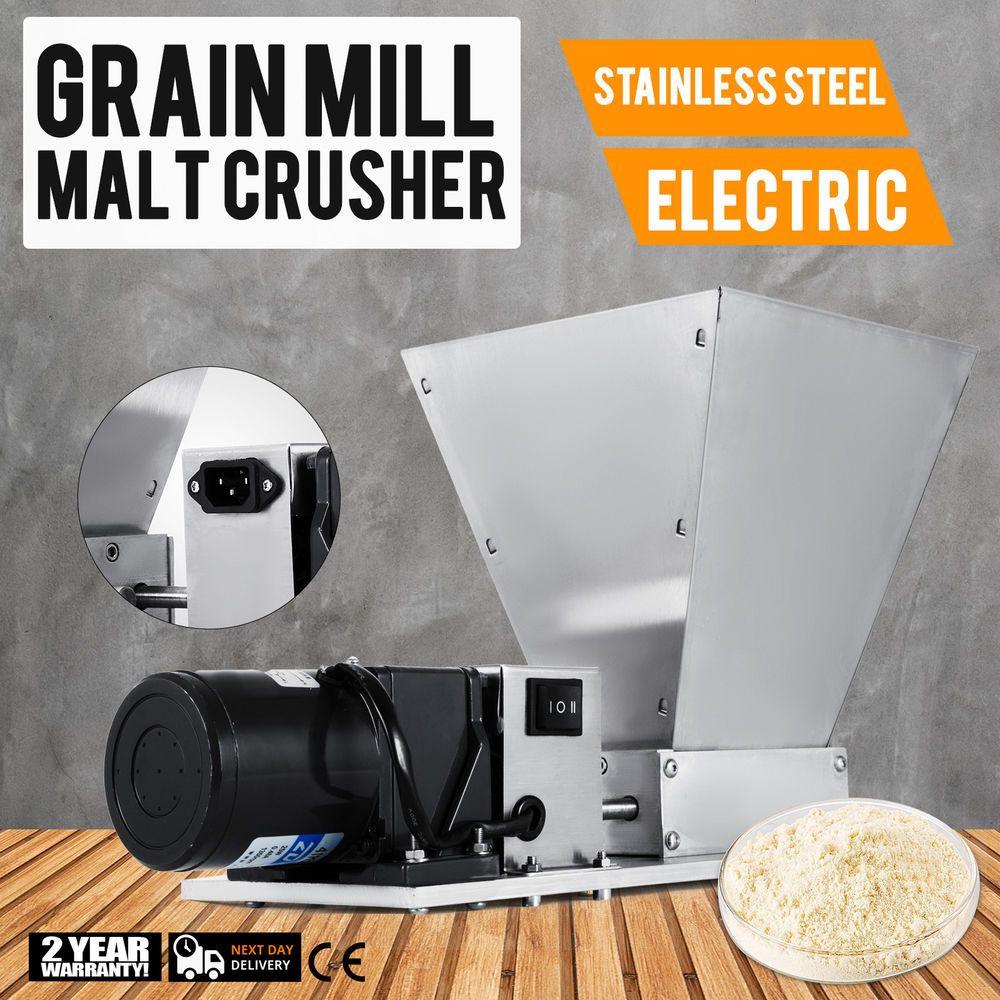 Electric Grain Mill Barley Grinder Malt Crusher Grain Mill Home Brew Mill Dy-368
