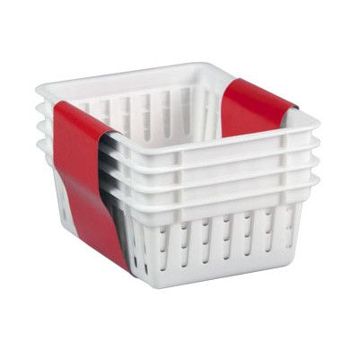 Basket With Images Small Plastic Baskets Home Basics Plastic