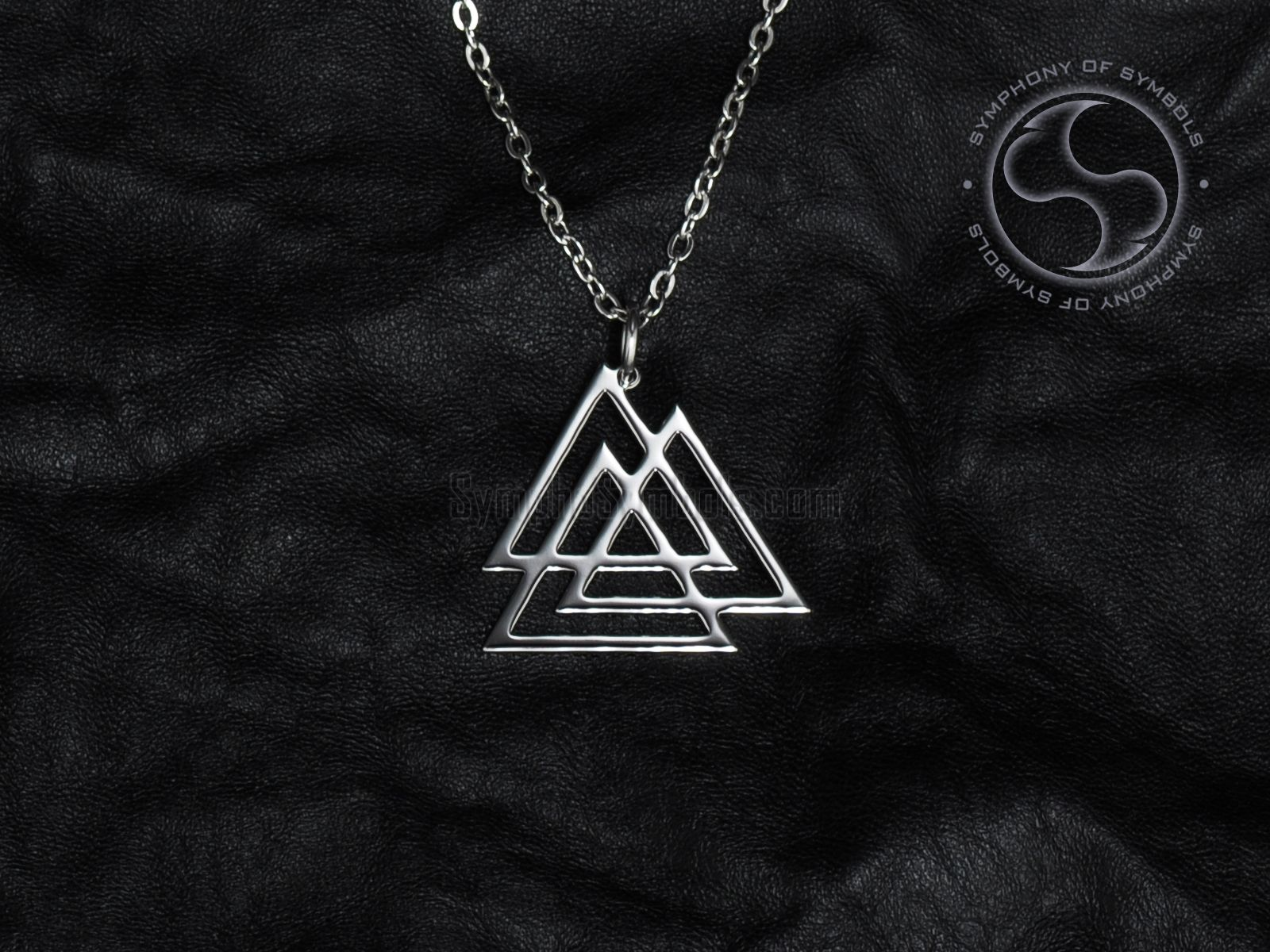 Valknut Symbol Necklace Stainless steel jewelry, Steel