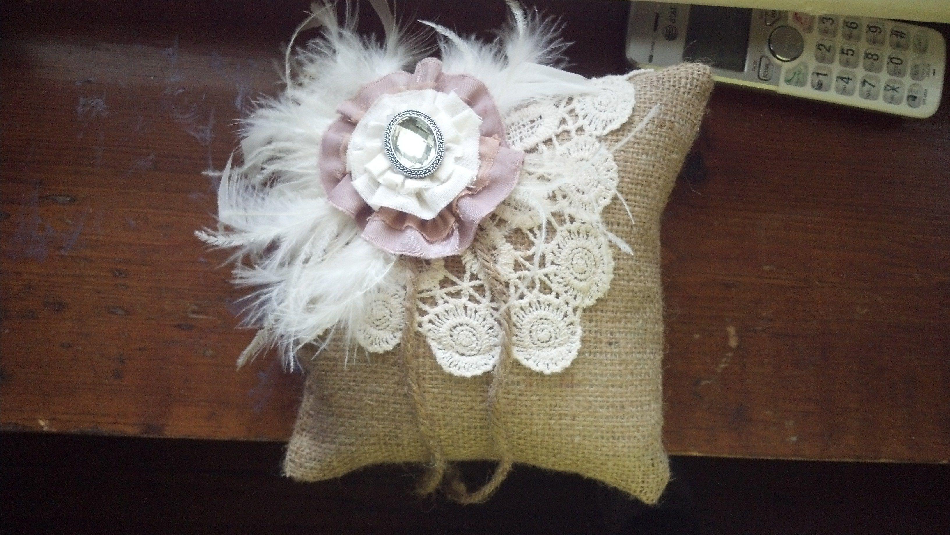 My daughterus diy wedding burlap a piece of a crochet vest from