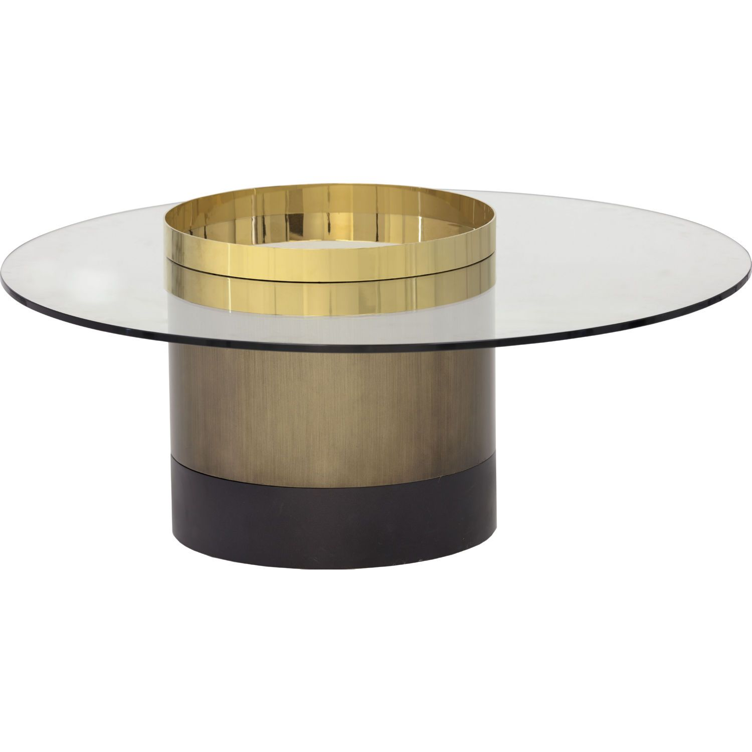 Sunpan 103032 Haru Coffee Table Brown Gold Stainless Steel Tempered Glass In 2021 Coffee Table Table Elegant Furniture [ 1500 x 1500 Pixel ]