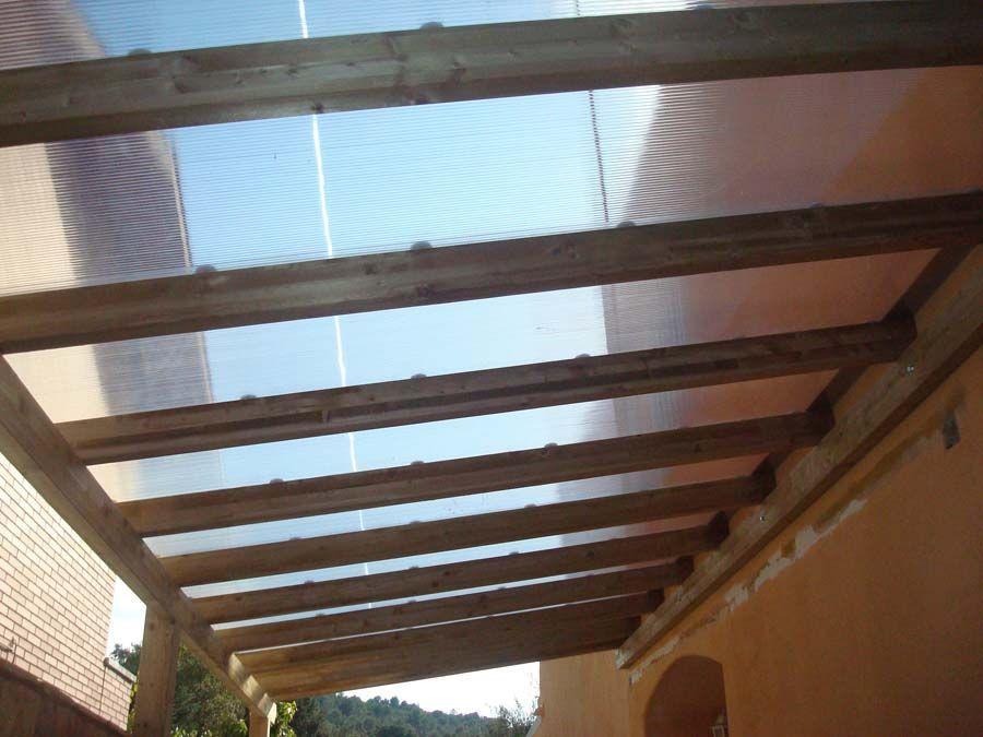 Fustmar pergolas de madera pergolas de madera for Pergola policarbonato