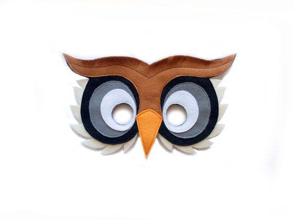 Owl mask children owl costume adult bird mask felt mask - Disfraces de buhos ...