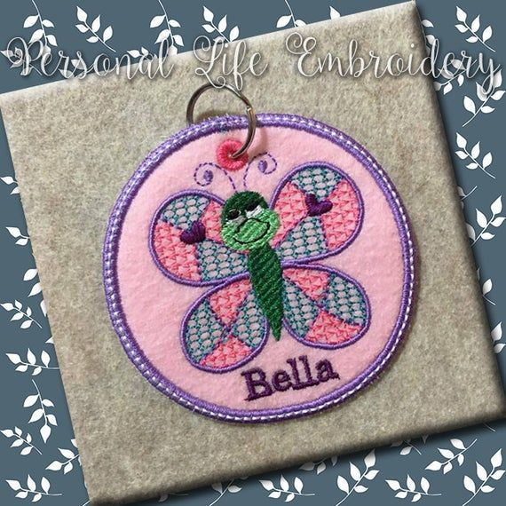 ITH Butterfly Backpack Keychain Zipper Pull Christmas Gift