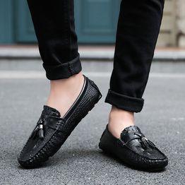 Moda Meska Skorzane Buty Mokasyny Plaskie Buty Brytyjskie Buty Doug Obuwie Biznesowe Na Co Dzien Vova Dress Shoes Men Loafers Men Oxford Shoes