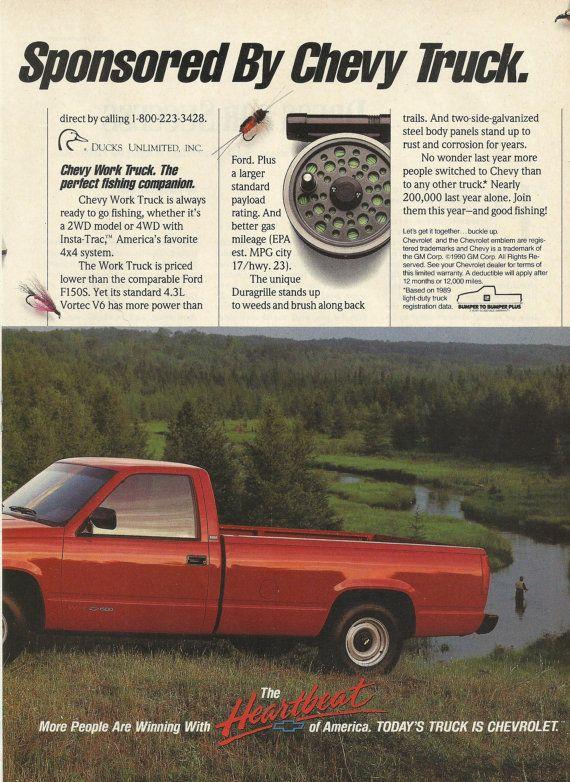 Chevrolet Pickup Original 1991 Vintage Print Ad By Vintageadorama