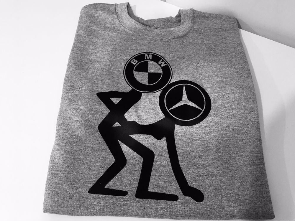 FUNNY BMW AND MERCEDES PRINTED ON HOODIE GREAT GIFT PRESENT IDEA #Unbranded #SweatshirtCrew