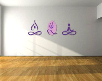 Namaste Wall Decal Yoga Wall Decal Vinyl Sticker By WisdomDecals - Yoga studio wall decals