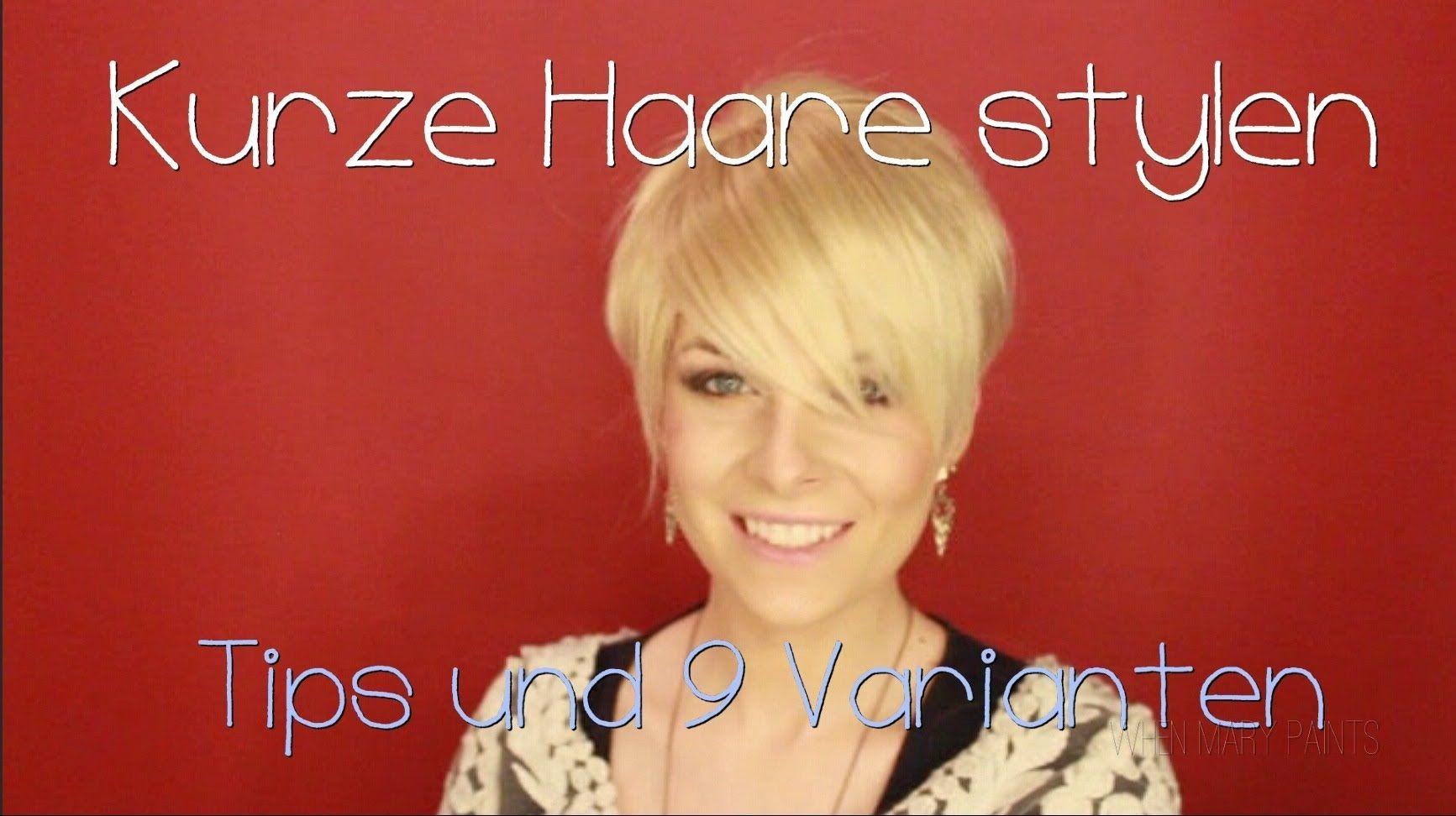 KURZE HAARE STYLEN • Miley Cyrus Pink Haarschnitt WhenMaryPaints