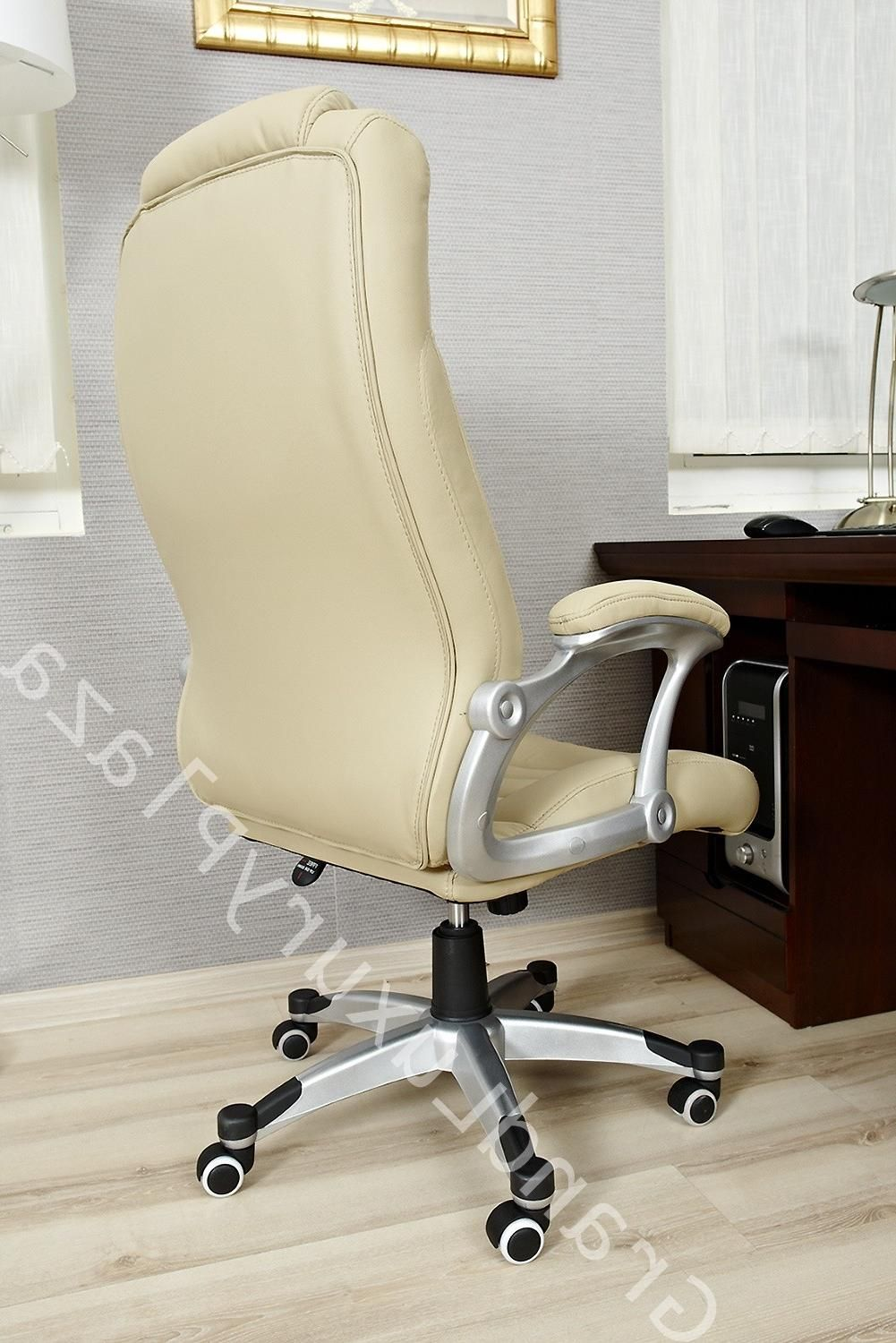 amazing furniture modern beige wooden office. Stunning Beige Leather Modern Office Chairs Decor For Elegance Furniture Set Plus Wooden Table Beside Amazing A