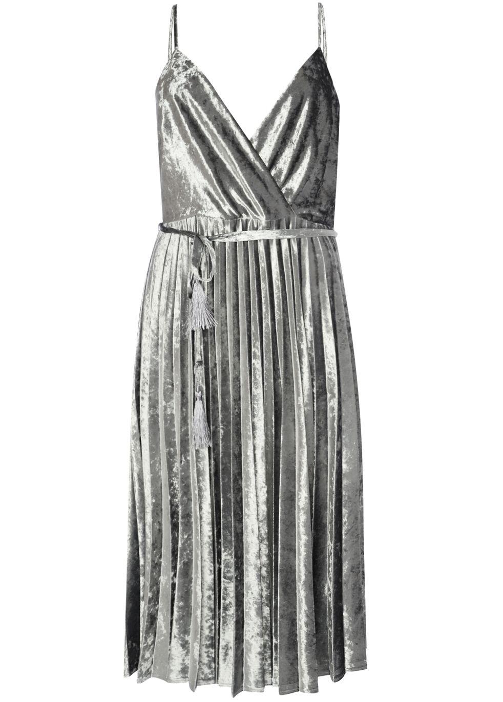 True Decadence Velvet pleated cami dress with skater skirt | Skater ...