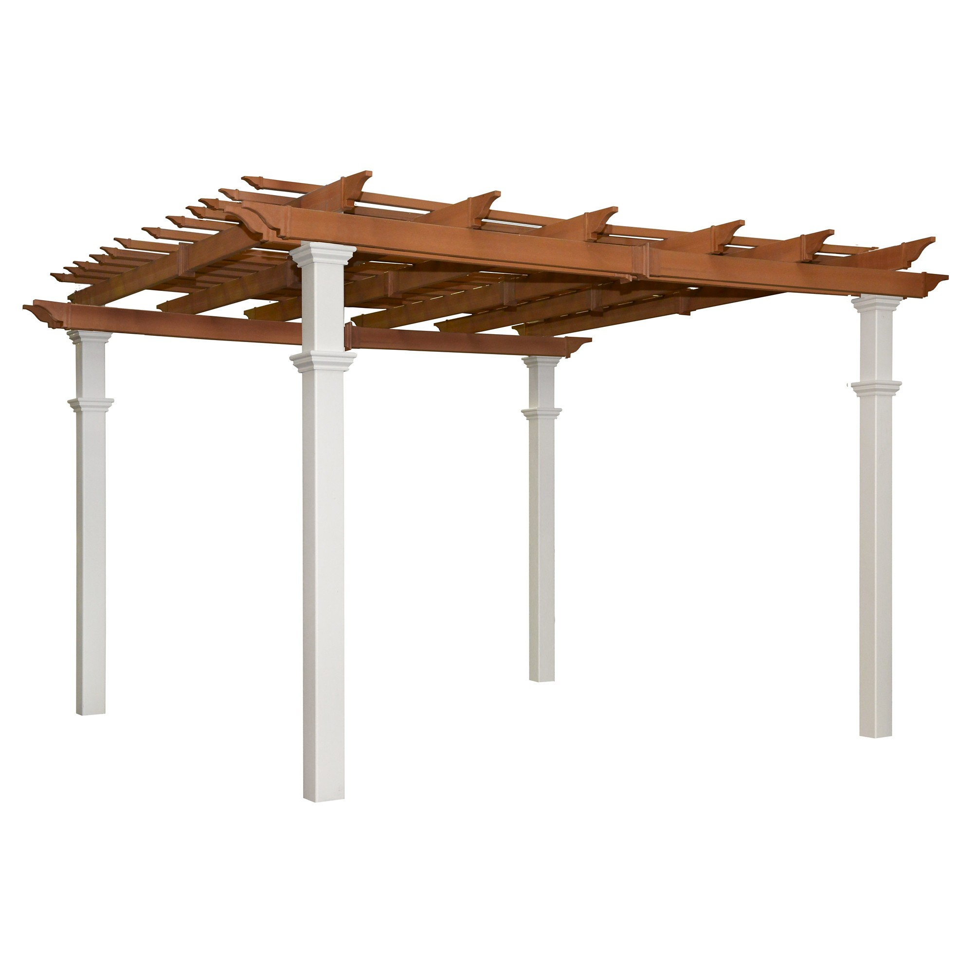 Bordeaux Two Tone 10 X 10 Pergola New England Arbors White Pergola New England Arbors Pergola Patio