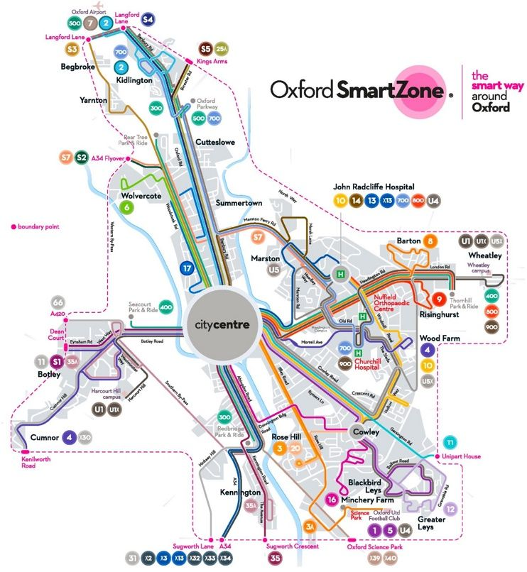 Oxford transport map Maps Pinterest Oxfords and City