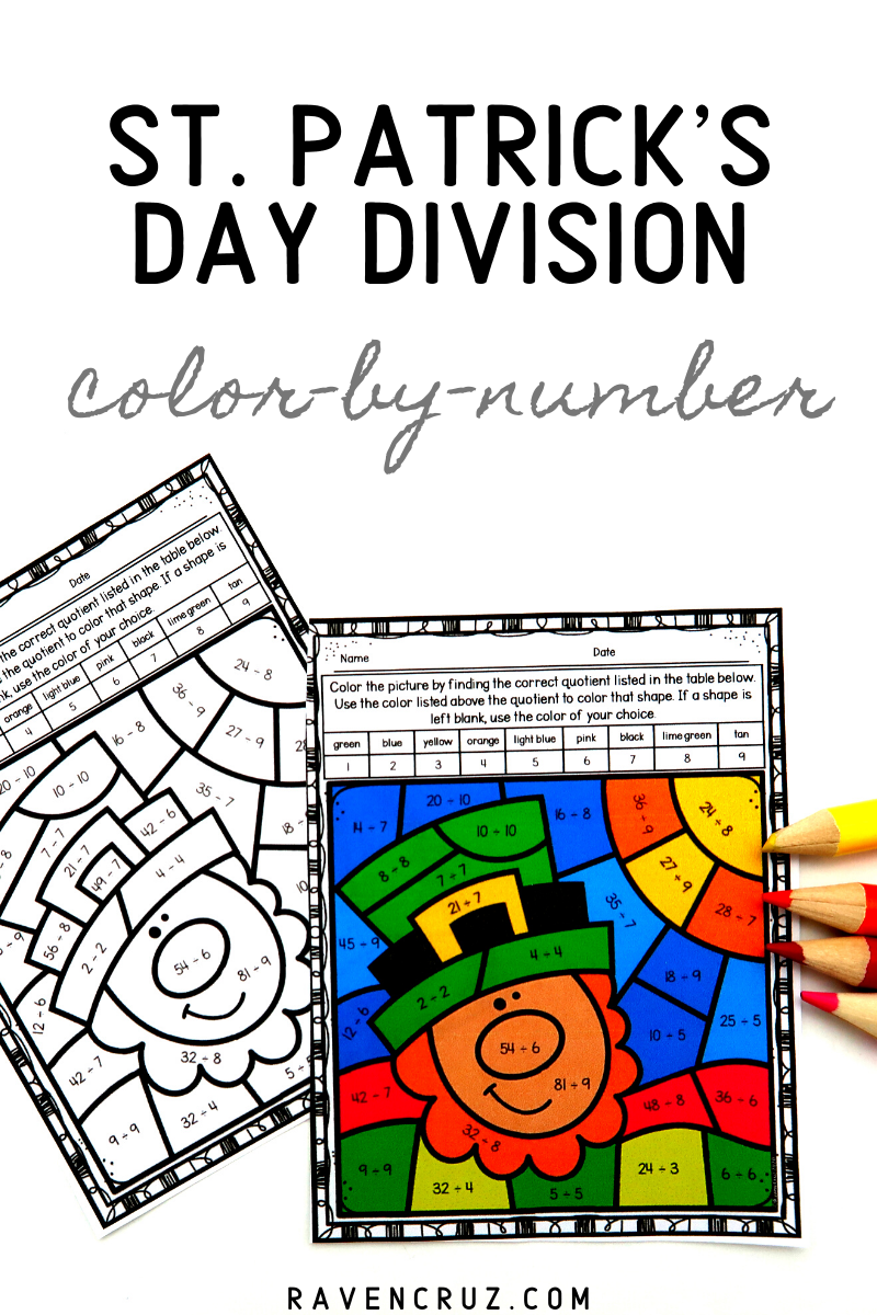 St Patrick S Day Division Color By Number Worksheets Math Division Worksheets Math Division Number Worksheets [ 1200 x 800 Pixel ]