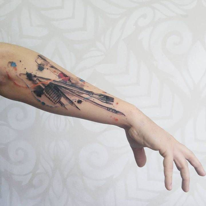 "Two modern tattoo styles that emerged in the 21st century are called ""watercolor"" and ""acrylic"" because they mimic the effects of paint on a canvas. ..."