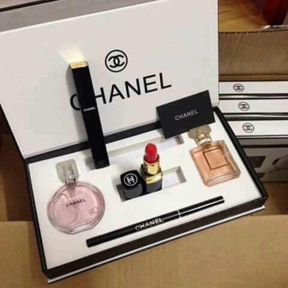 adc720feb816 Set Chanel 5 món ✓Bộ mỹ phẩm Chanel 5 món cao cấp với kiểu dáng bắt ...