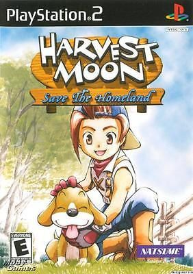 Harvest Moon Save The Homeland Ps2 Game Harvest Moon Harvest Moon Game Harvest