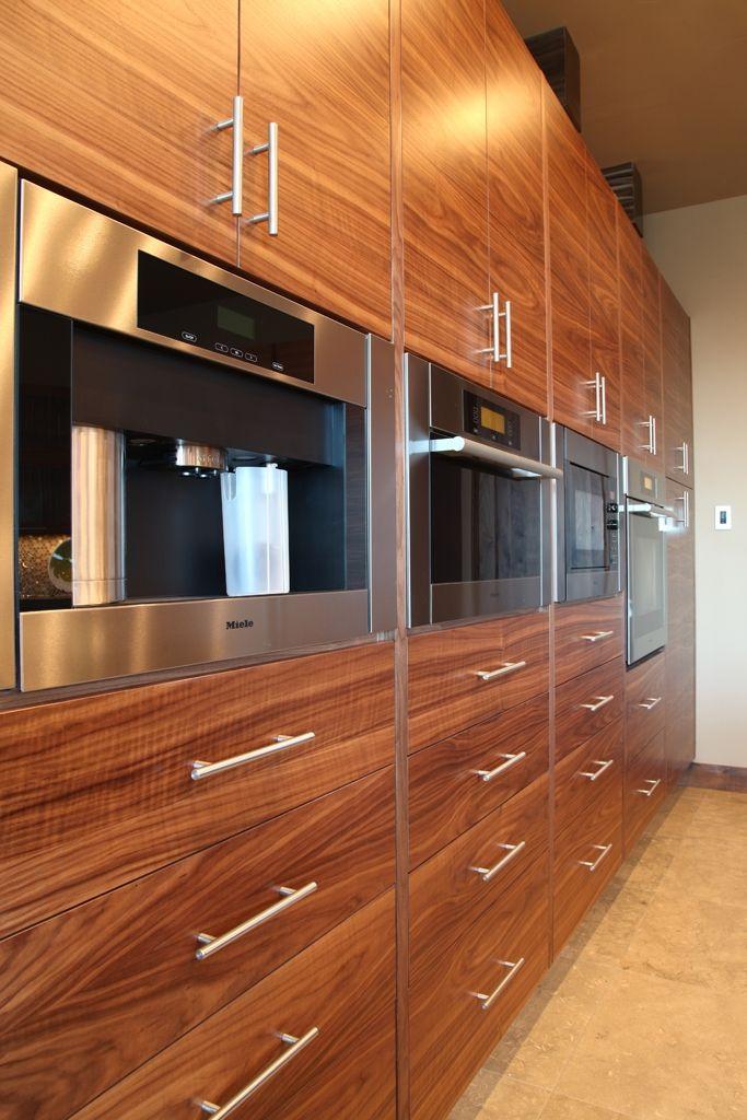 fascinating modern walnut kitchen cabinets | Hand Crafted Modern Walnut Kitchen by Riverwoods Mill ...