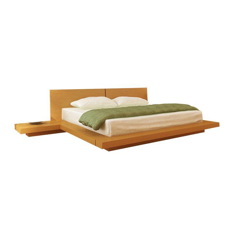 Kooning Platform Bed Oak Hl Koon Oak Bd Modern Platform Bed