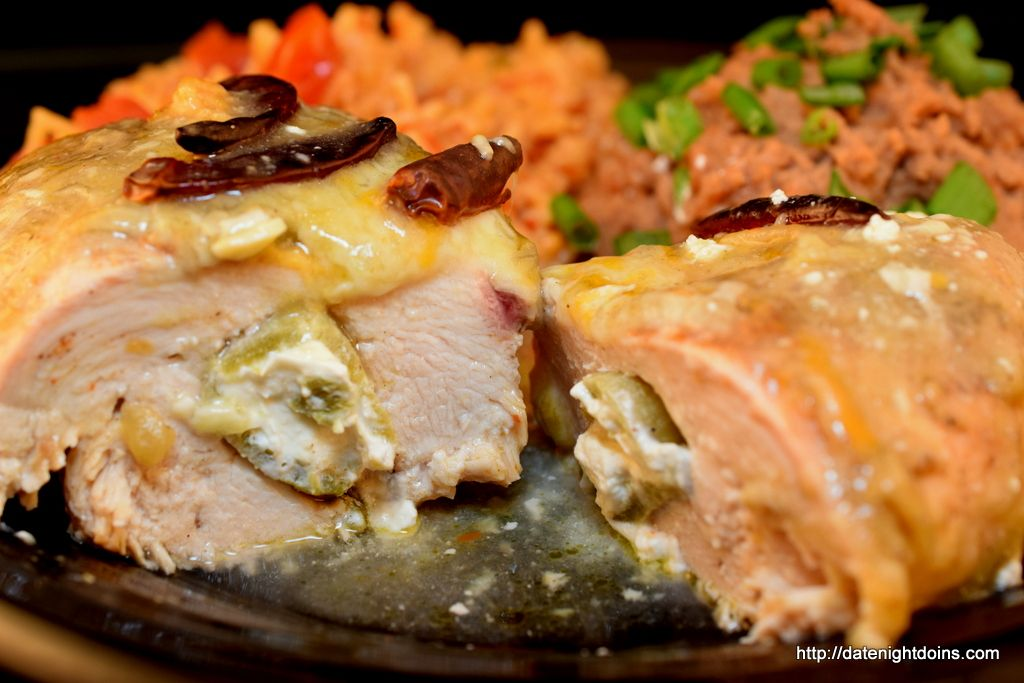 Poblano Stuffed Chicken | Pellet grill recipes, Grilled ...