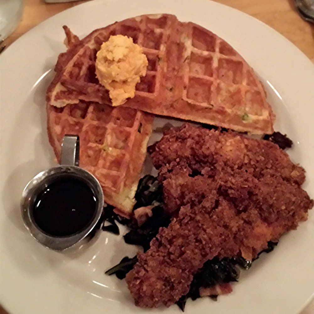 5 Spot Photos Chicken And Waffles Collard Greens With Bacon Food