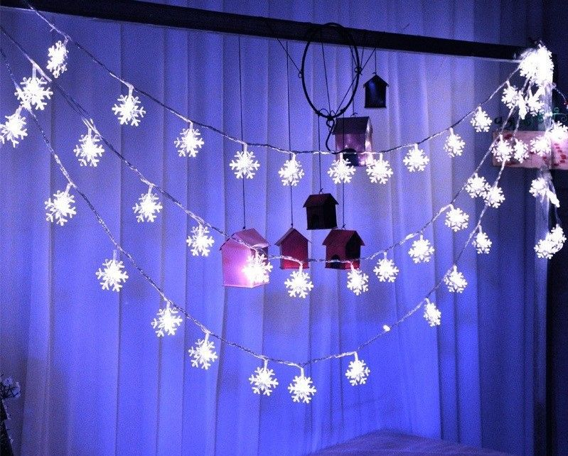 Special snowflakes! Pretty, color changing LED string fairy lights