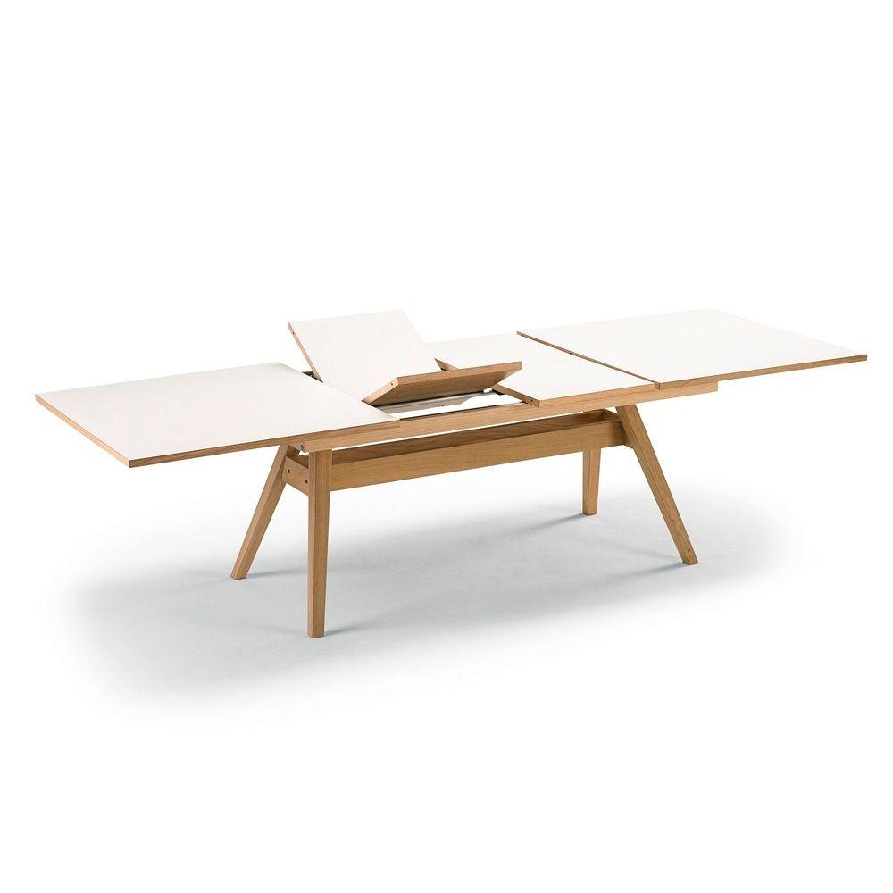 Uitschuifbare Eettafel White Wash.Skovby Uitschuifbare Tafel 11 Wit White Wash Poten