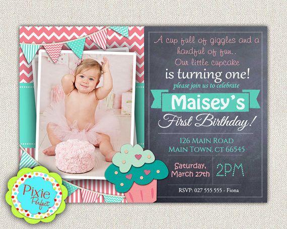 Girls 1st Birthday Invitation / First by InvitationsByLittleP