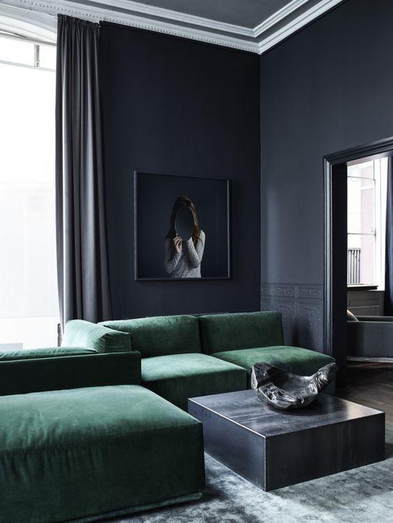 Zwart, zwart en zwart: een zwart interieur | wonen | Pinterest ...