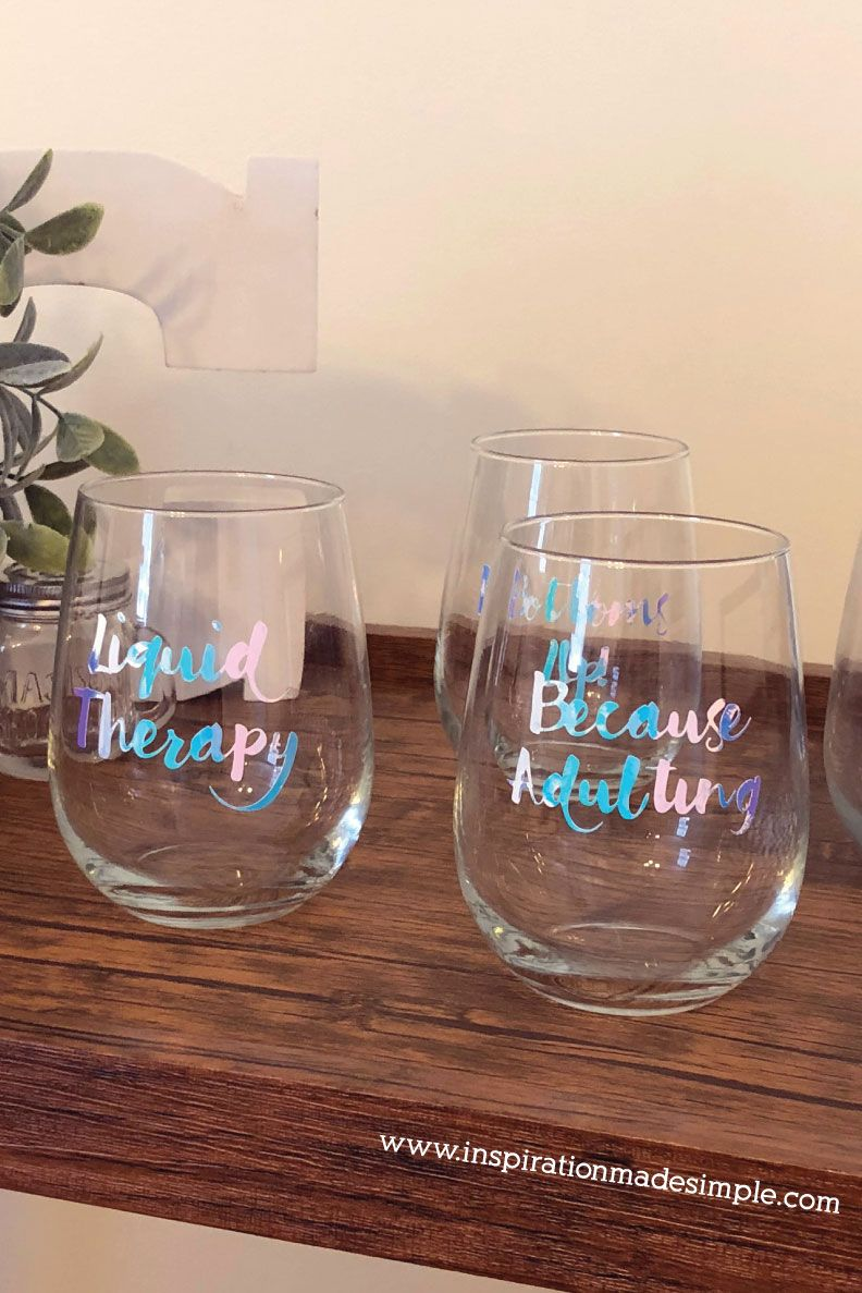 Diy Sassy Wine Glasses Vinyl On Glass Diy Wine Glasses