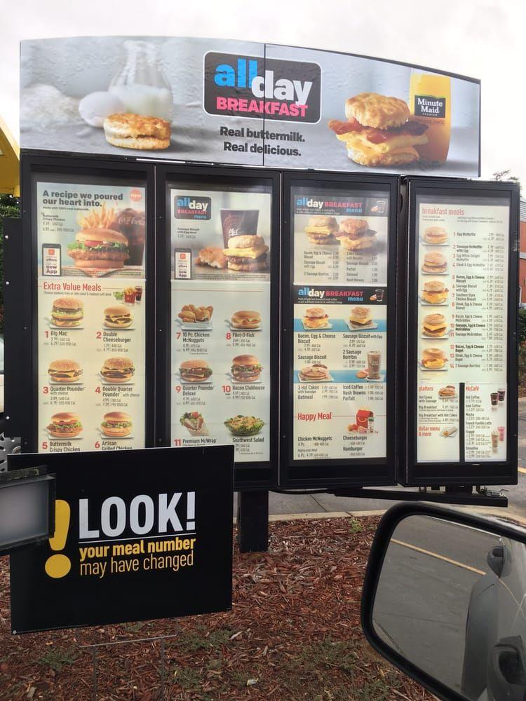 Photo Of Mcdonald S Tallahassee Fl United States Drive Thru Menu Fast Food Menu Happy Meal Food Menu