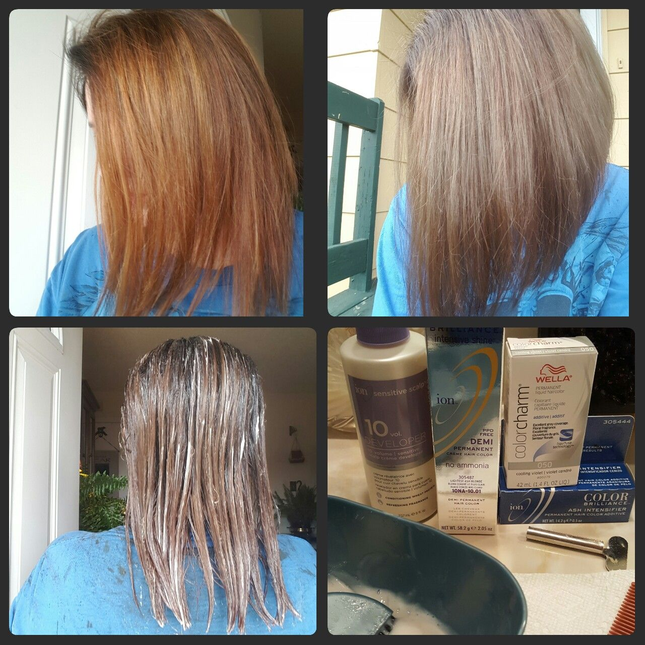 Orange Hair Do Care I Corrected It By Using 1 2 Ratio Of Ion Demi Permanent 10na And 10 Volume