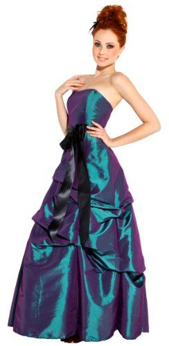 Strapless Taffeta Bridesmaid Prom Holiday Formal Gown Long Dress