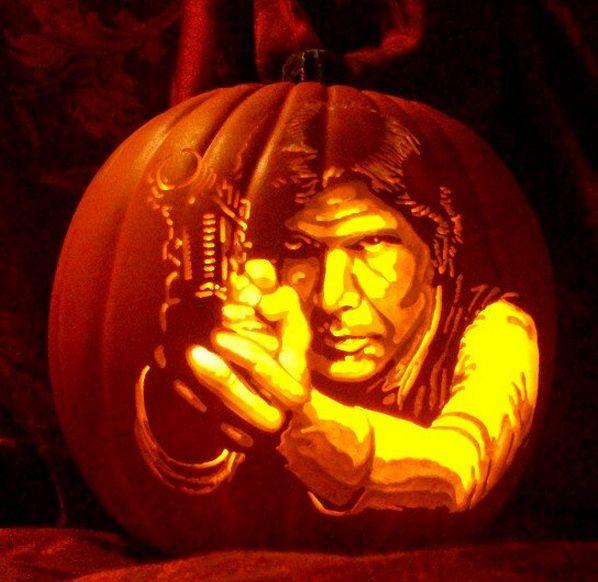 38 Pumpkins Carved Like Famous People Pumpkin Carving Star Wars Pumpkins Halloween Pumpkins Carvings