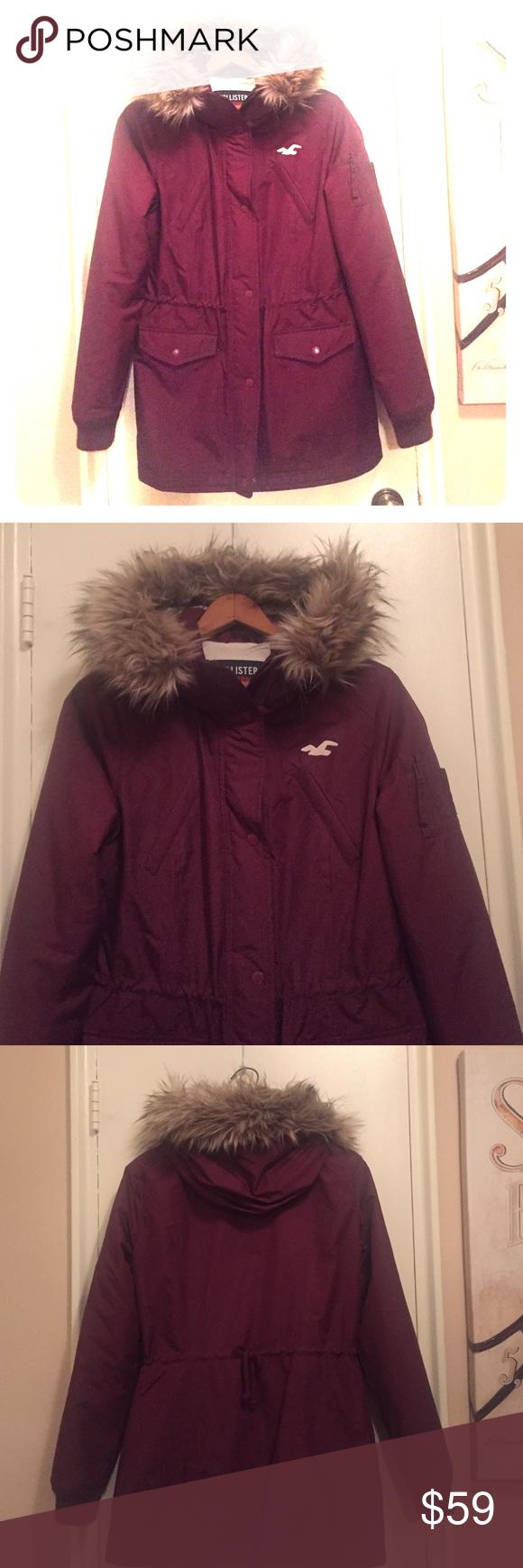 Hollister Burgundy Winter Jacket Winter Jackets Clothes Design All Weather Jackets [ 1740 x 580 Pixel ]