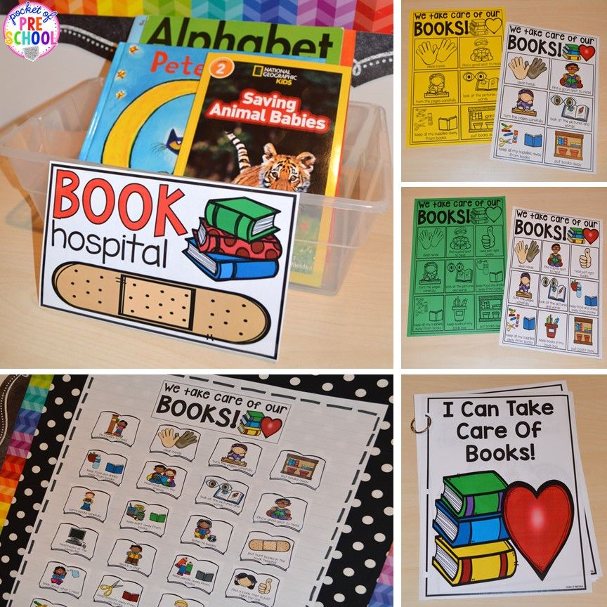 Book care posters charts read aloud and book hospital