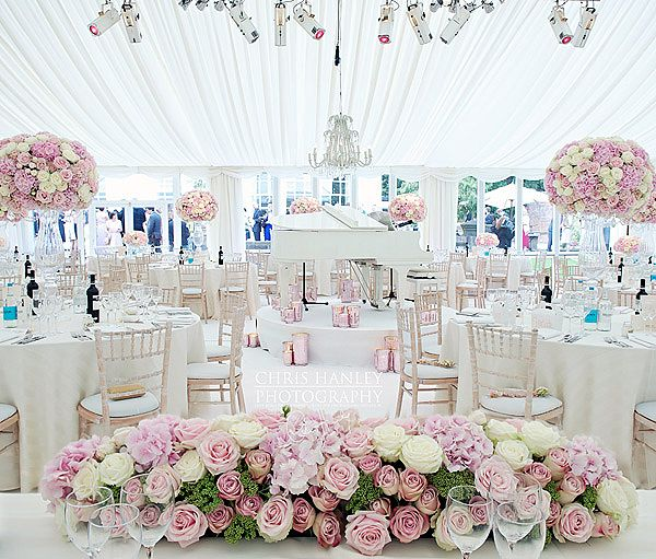 Beautiful Ivory And White Wedding With Pink Flowers White Baby
