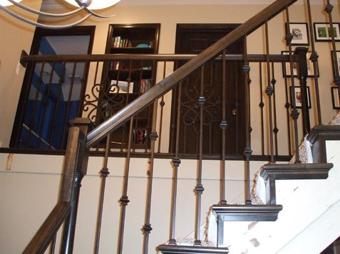 Iron Spindles With Decorative Panel