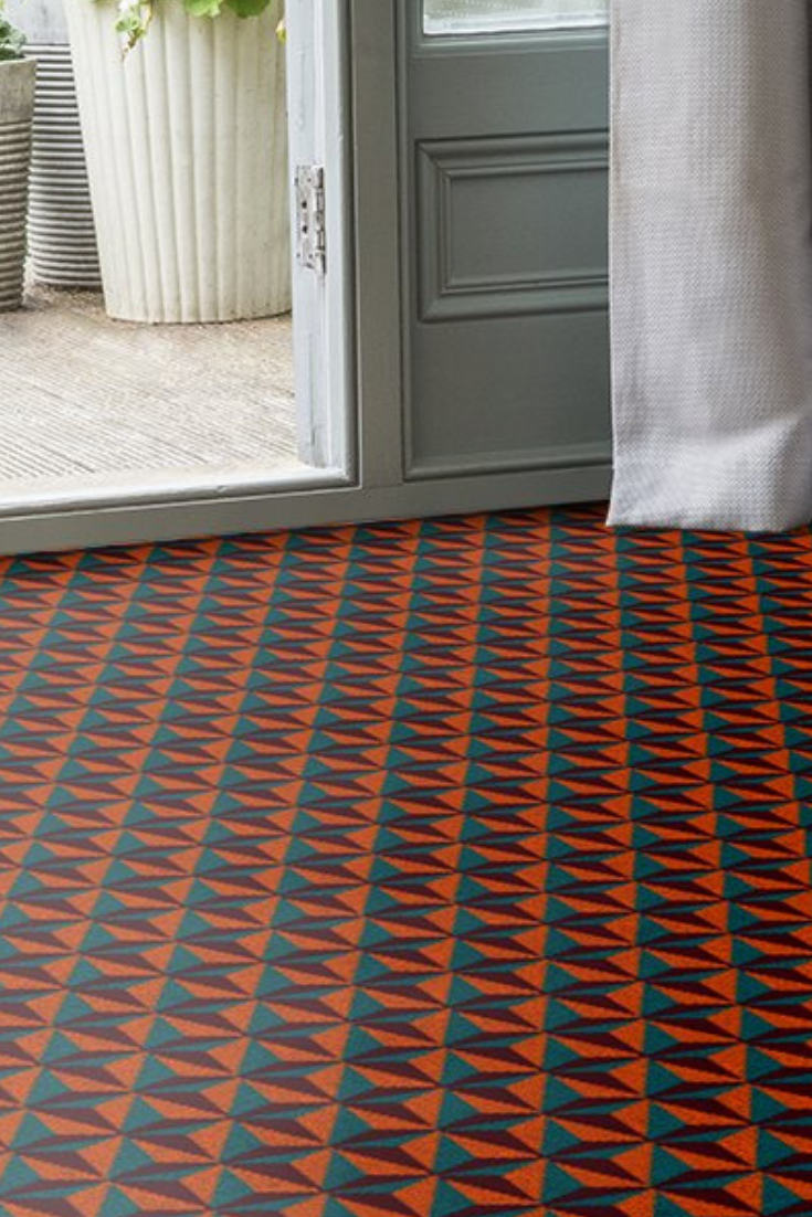 If It Is Bold Bright And Fun Hallway Flooring You Are After Look No Further Than The Quirky B Ben Pentreath Tetr Alternative Flooring Hallway Flooring Carpet