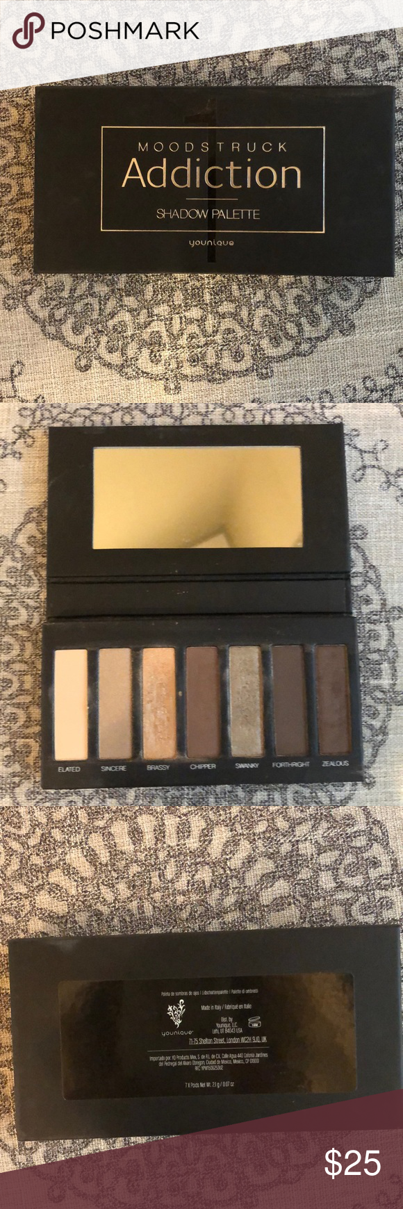 Younique Pressed eye shadow- Palette 1 Neutral browns. Used twice. Younique Makeup Eyeshadow #youniquepressedshadows