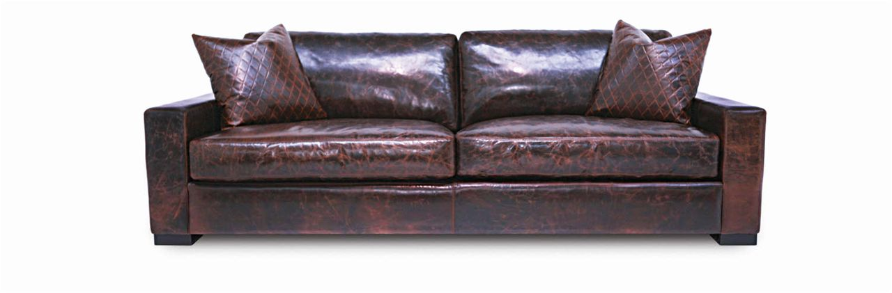 Leatherpes Presidential Marietta Maxwell Leather Sofa
