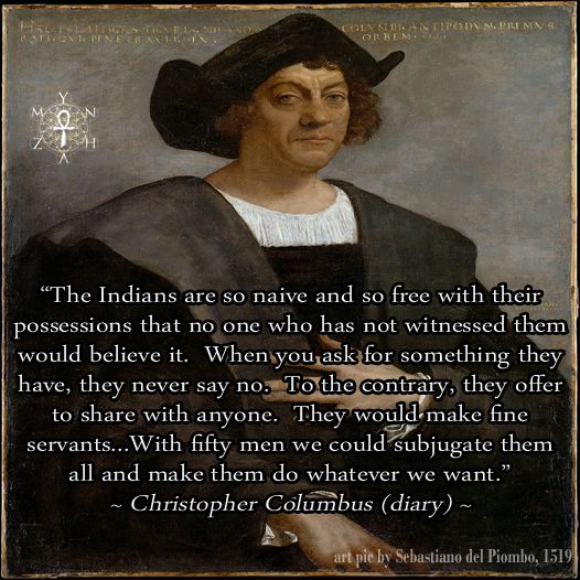 christopher columbus murderer essay Sources: all of the information in this essay came from a people's history of the united states, by howard zinn, and lies my teacher told me, by james w loewen, both of which uses primary sources such as eyewitness accounts, journal entries, and letters from christopher columbus himself.