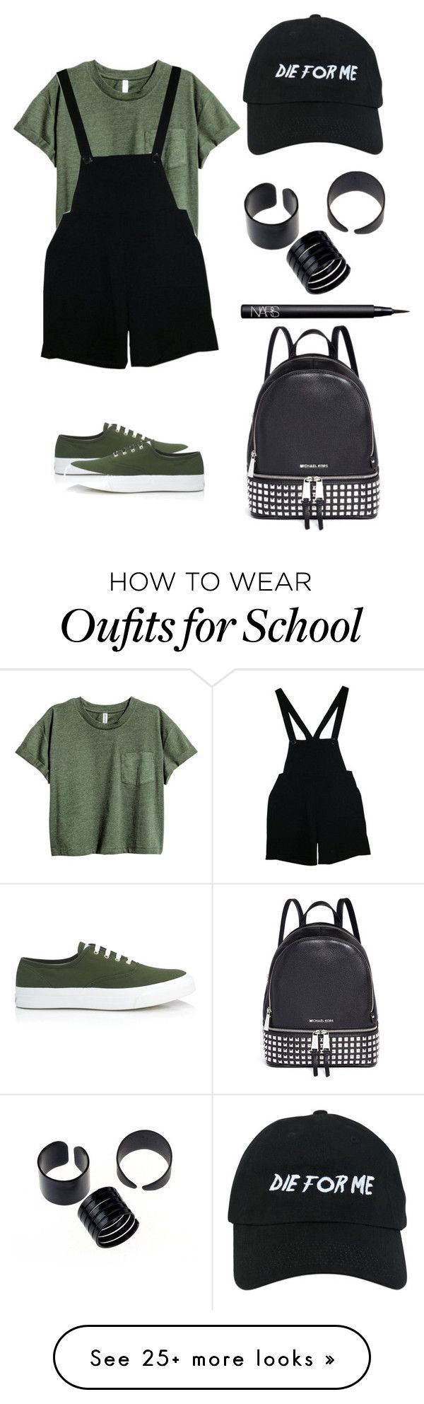 Back to school 2 by bridie-oloughlin on Polyvore featuring American Apparel, Maison Kitsuné, Nasaseasons, NARS Cosmetics and Michael Kors (Tech Style Women) #backtoschool